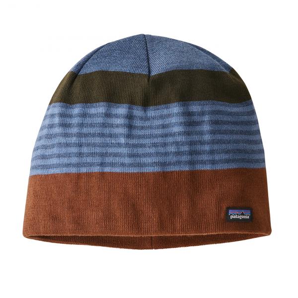 Patagonia Beanie Hat Fitz Roy Stripe / Sisu Brown