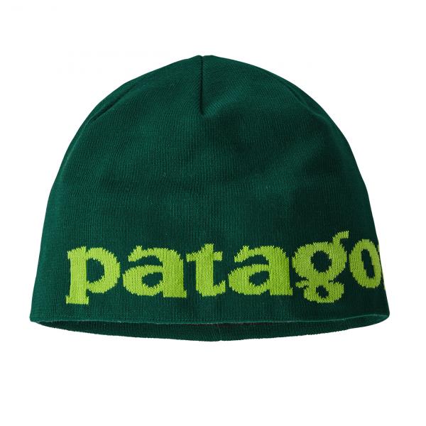 Patagonia Beanie Hat Logo Belwe / Piki Green