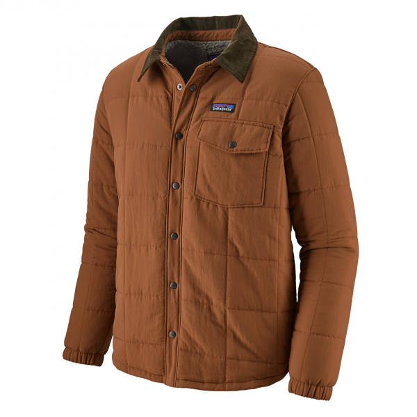 Patagonia Isthmus Quilted Shirt Jacket Sisu Brown
