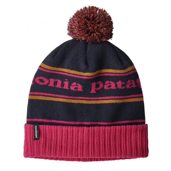 Patagonia Powder Town Beanie Park Stripe Craft Pink / Navy