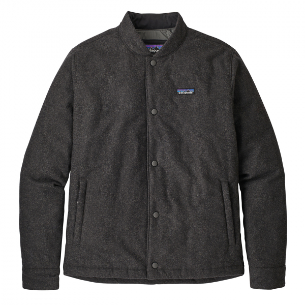 Patagonia Recycled Wool Bomber Jacket Forge Grey