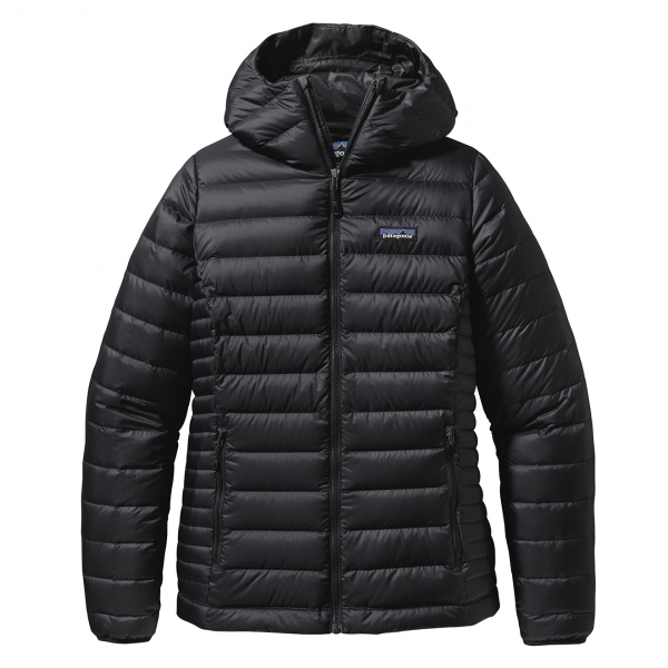 Patagonia Womens Down Sweater Hoody Jacket Black