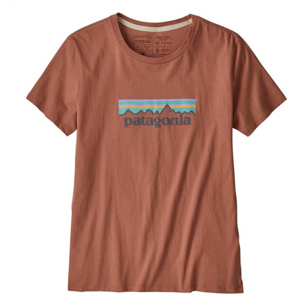 Patagonia Womens Pastel P-6 Organic Crew T-Shirt Century Pink