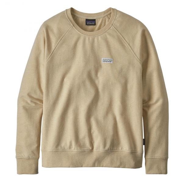 Patagonia Womens Pastel P-6 Label Ahnya Crew Sweatshirt Oyster White