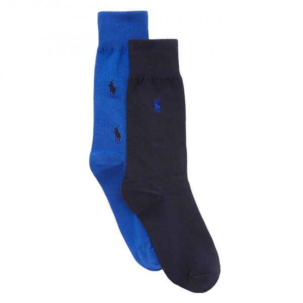 Polo Ralph Lauren All Over Pony 2-Pack Socks Royal / Navy