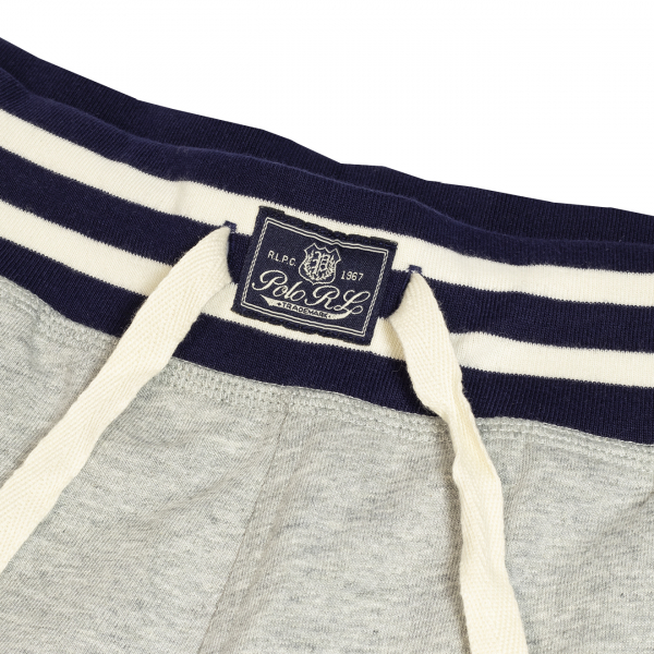 Polo Ralph Lauren Jersey Stripe Band Lounge Shorts Grey