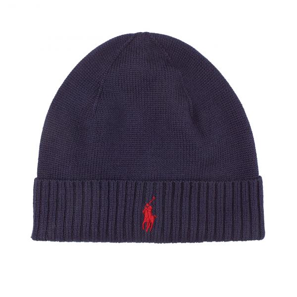 Polo Ralph Lauren Merino Beanie Hat Navy
