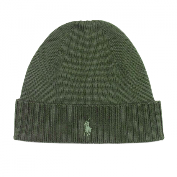 Polo Ralph Lauren Wool Signature Pony Beanie Hat Green