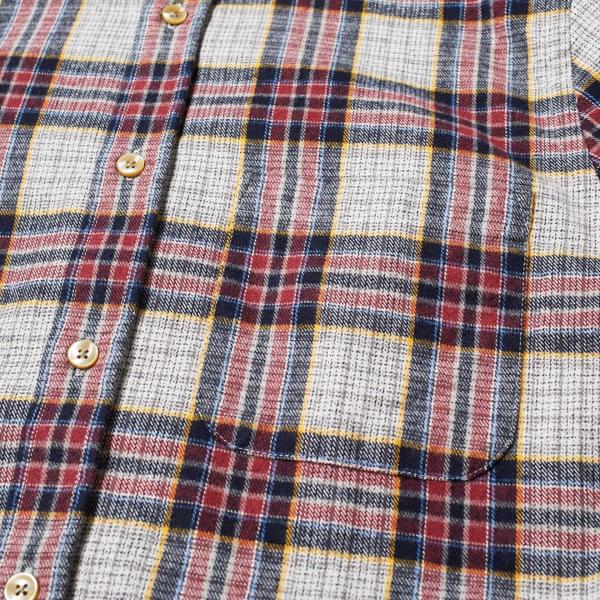 Portuguese Flannel Bavaric Check Shirt Red / Grey