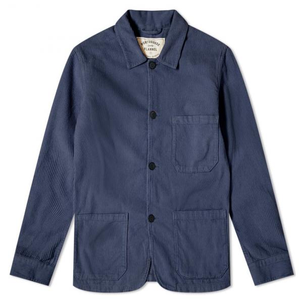 Portuguese Flannel Labura Corduroy Jacket Blue