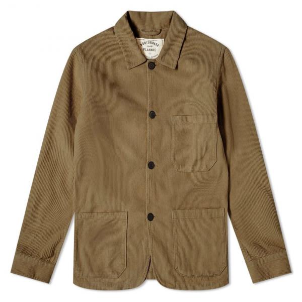 Portuguese Flannel Labura Corduroy Jacket Olive