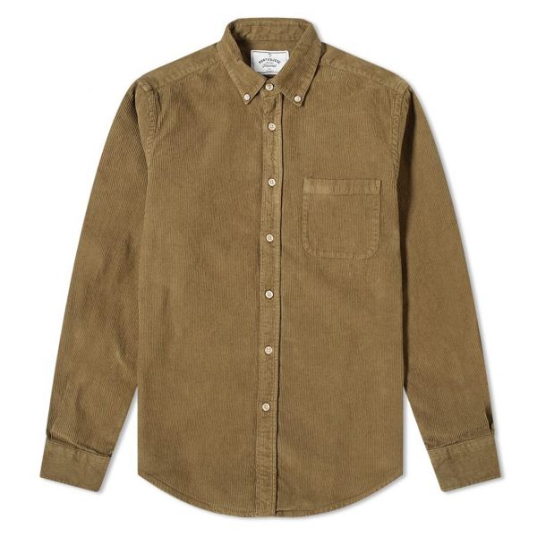 Portuguese Flannel Lobo Cord Shirt Olive