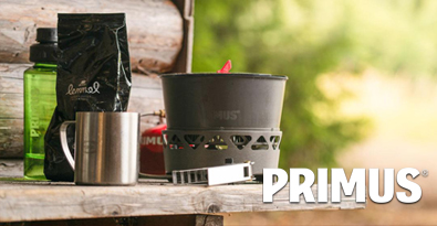 Camping With the Primus PrimeTech Stove Set at Log Cabin