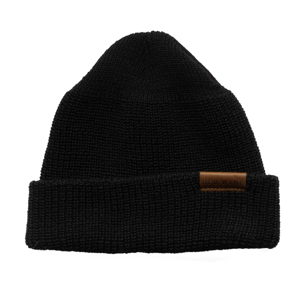Red Wing Merino Wool Beanie Hat Black