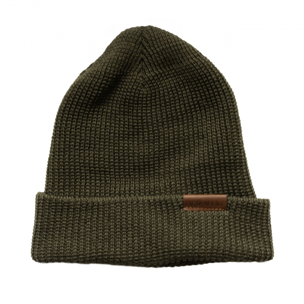 Red Wing Merino Wool Beanie Hat Olive