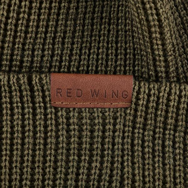 Red Wing Merino Wool Beanie Hat Olive