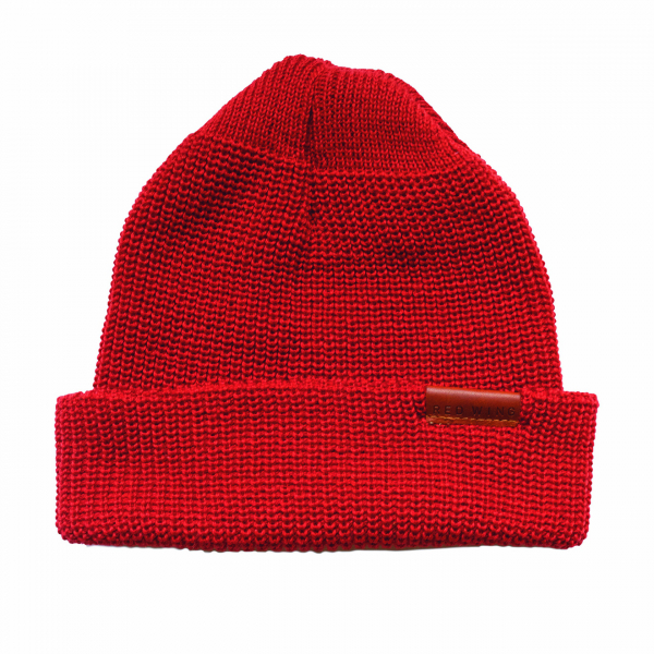 Red Wing Merino Wool Beanie Hat Red