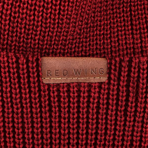Red Wing Merino Wool Beanie Hat Red