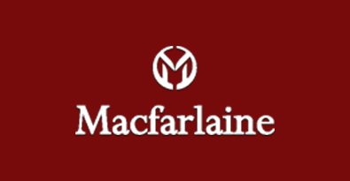 Macfarlaine White on Red Logo