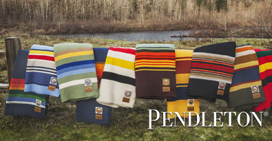 Range of Colourful Pendleton Wool Blankets