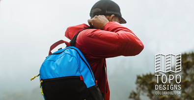Mountaineering With Topo Designs Light Pack Backpack & Weatherproof Jacket