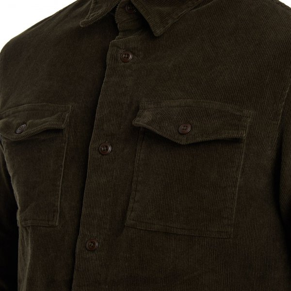 Barbour Cord Overshirt Olive