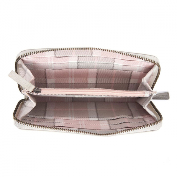 Barbour Womens Clutch Purse With Zippered Coin Compartment and Card Slots Pink
