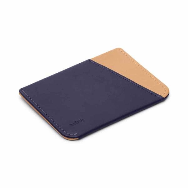 Bellroy Micro Sleeve Cardholder Navy / Tan