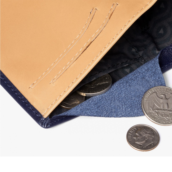 Bellroy Note Sleeve Wallet Navy / Tan - RFID