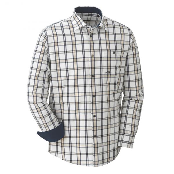 Blaser Oxford Shirt Modern Fit Beige Blue Brown