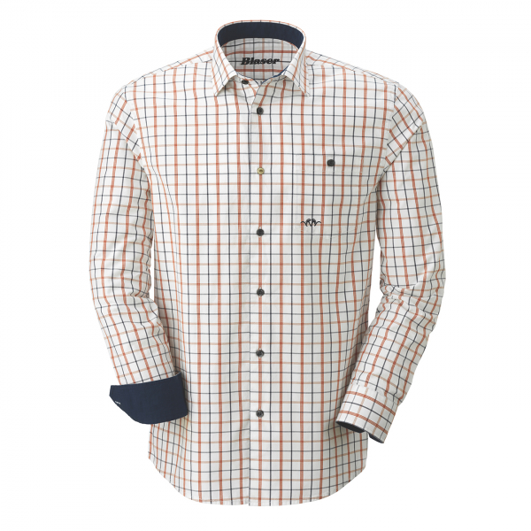 Blaser Oxford Shirt Modern Fit Marine Burned