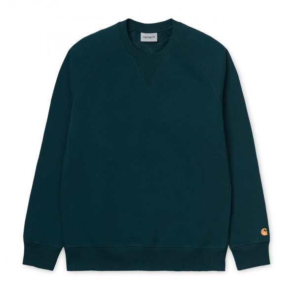 Carhartt Chase Sweat Duck Blue / Gold
