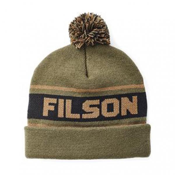 Filson Acrylic Logo Beanie Hat Army Green