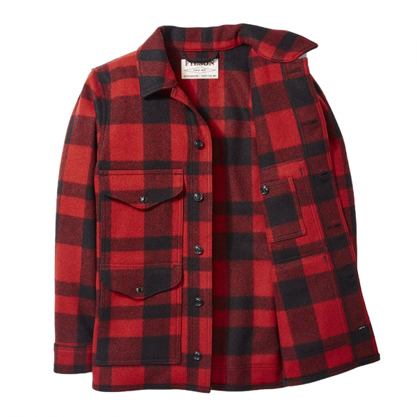 Filson Mackinaw Cruiser Jacket Red / Black