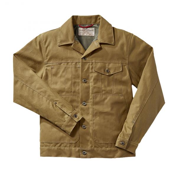 Filson Short Lined Cruiser Jacket Dark Tan