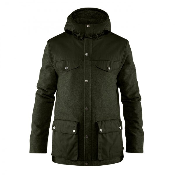Fjallraven Greenland Re-Wool Jacket Deep Forest