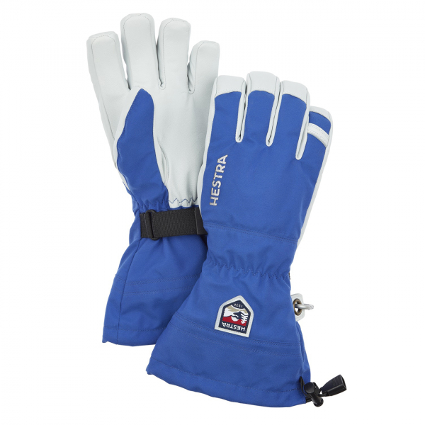 Hestra Army Leather Heli Ski Glove Royal