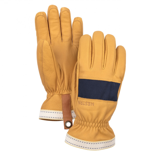 Hestra Njord Gloves Navy / Natural Brown