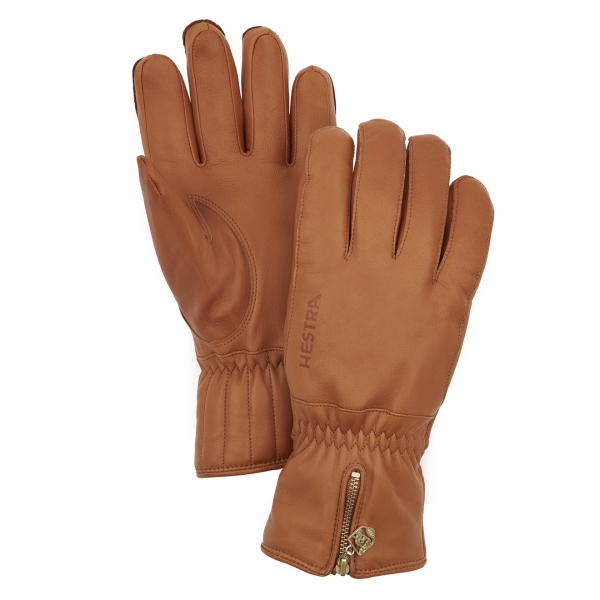 Hestra Womens Leather Swisswool Classic Glove Cork