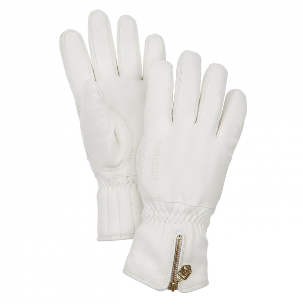 Hestra Womens Leather Swisswool Classic Glove White