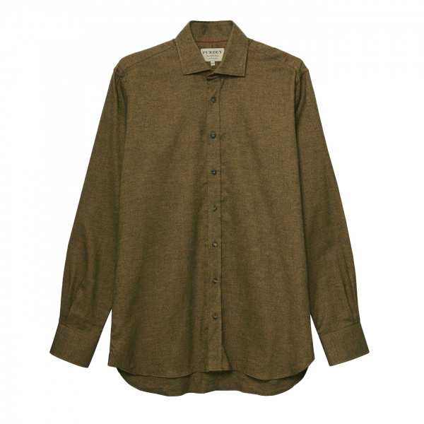 James Purdey Birds Eye Cotton Shirt Copper