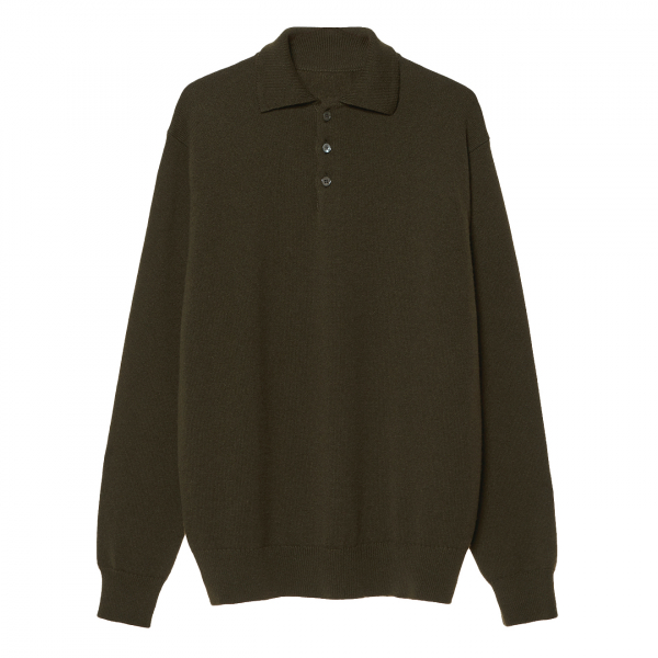 James Purdey Brunel Cashmere Polo Rifle Green
