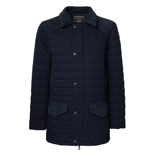 James Purdey Felgate Quilt Jacket Navy