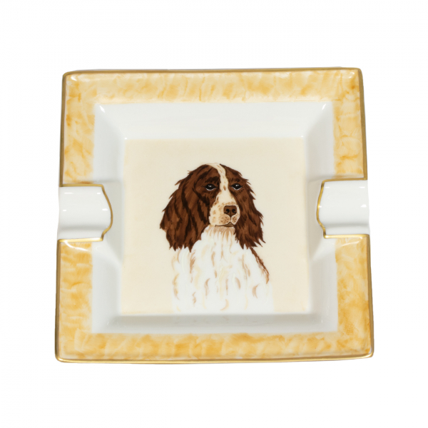 James Purdey Hand Painted Limoges Porcelain Mini Dish Dogs - Spaniel - Limited Edition