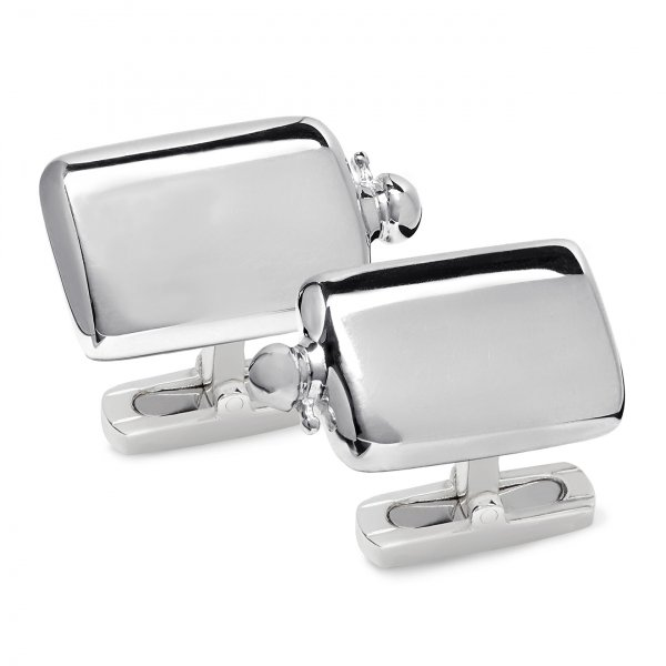 James Purdey Sterling Silver Flask Cufflinks