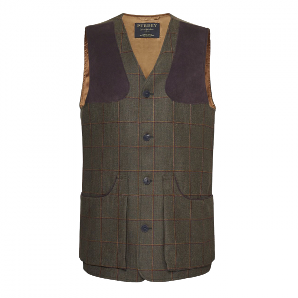 James Purdey Technical Tweed Shooting Vest Lawrence