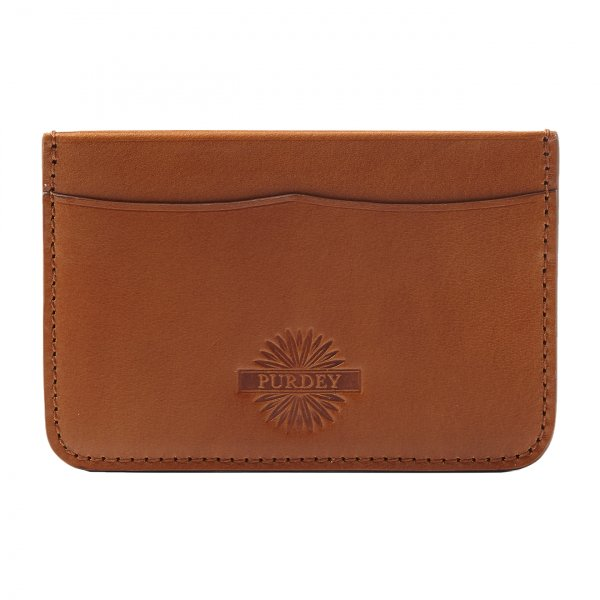 James Purdey Vegetable Tanned Leather Credit Card Holder London Tan