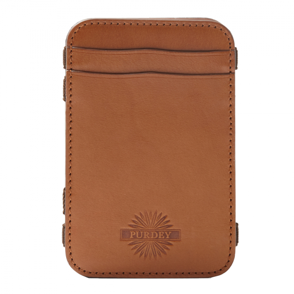 James Purdey Vegetable Tannded Leather Magic Wallet London Tan
