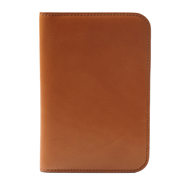 James Purdey Vegetable Tanned Leather Passport Cover London Tan