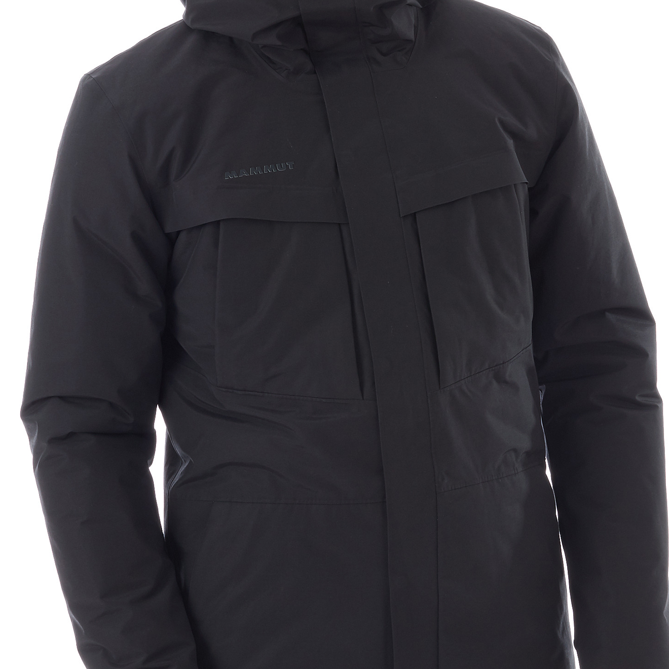 Mammut Chamuera Hs Thermo Hooded Parka Jacket Black The Sporting Lodge